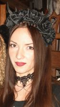 Antlers, Roses & Beads headband, Gothic Wreath, romatic headdwear