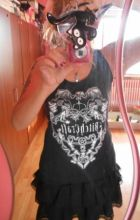 "Tank top ""BITCHCRAFT"" black singlet, gothic, magic objects"