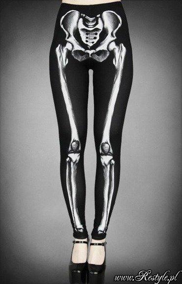 Skeleton Leggings Bones Trousers Horror Pants