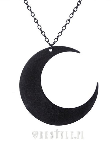 """MOON BLACK PENDANT"" Huge Crescent, occult jewellery, luna"