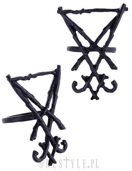 "Ring ""LUCIFER SIGIL BLACK"" satanic jewellery, occult fashion"