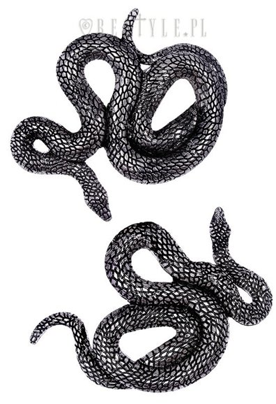"""SNAKES HAIRCLIPS"" Pair of serpentine clips, occult jewellery"
