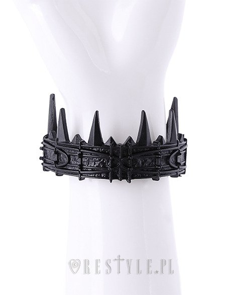 """BLACK CROWN BRACELET"" Moon crown bangle with spikes, witchy"