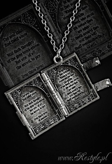 """BOOK OF SHADOWS"" Locket pendant, book shaped necklace"