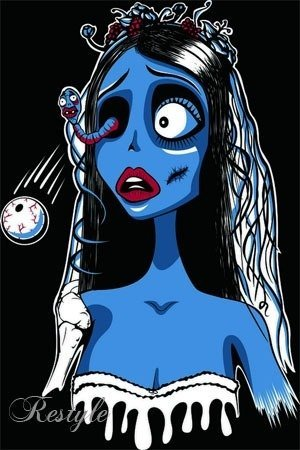 Black  t-shirt  Corpse Bride
