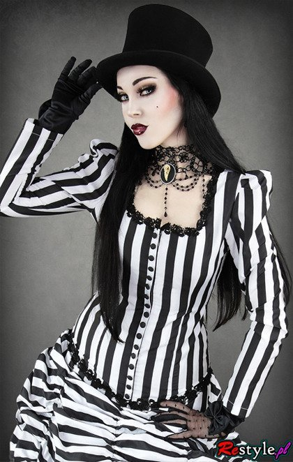 Black top hat unisex dark cabaret victorian