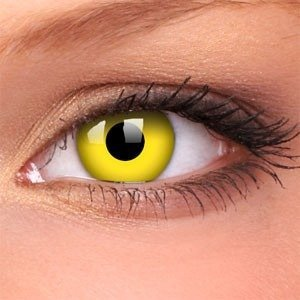Colourvue YELLOW decorative contact lens annual
