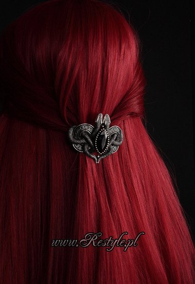 "Gothic hairclip ""SNAKES OF AVALON"" celtic hair barrette"