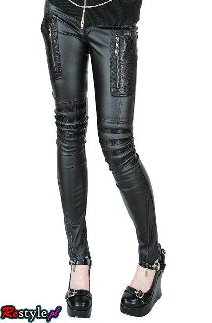 PUNK RAVE K-103 leather hipsters skinny