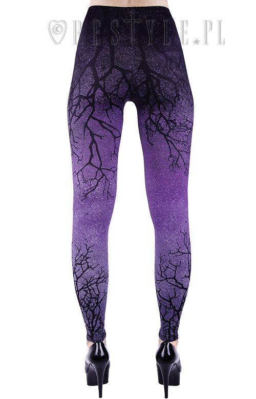 """PURPLE BRANCHES"" Ombre Leggings tree, gradient trousers"