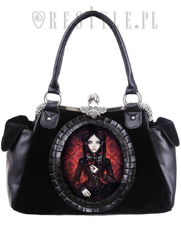 Gothic Lolita Handbag On Metal Frame Retro Style Quot Red