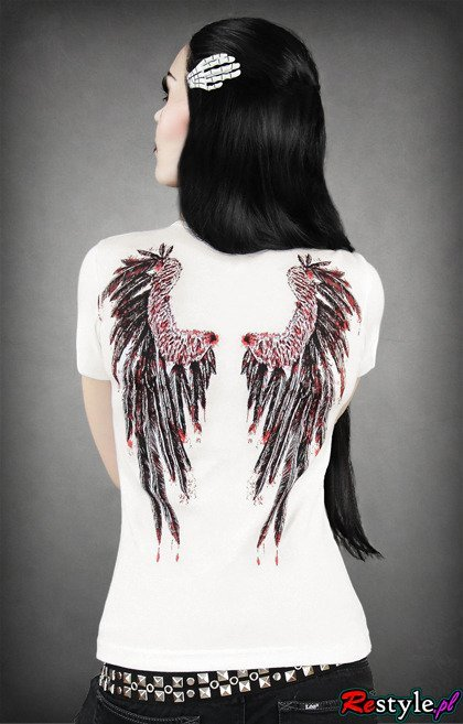 T-shirt Bloody Angel's wings on the back