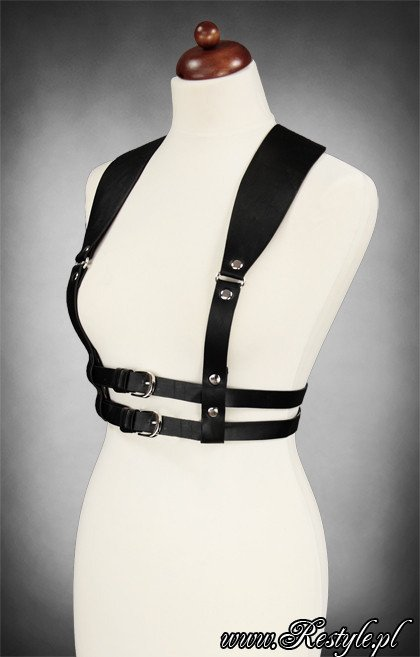 "Underbust harness "" WIDE STRAPS BELT BLACK"" gothic accessory"