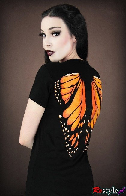 V-neck Monarch Butterfly wings on the back