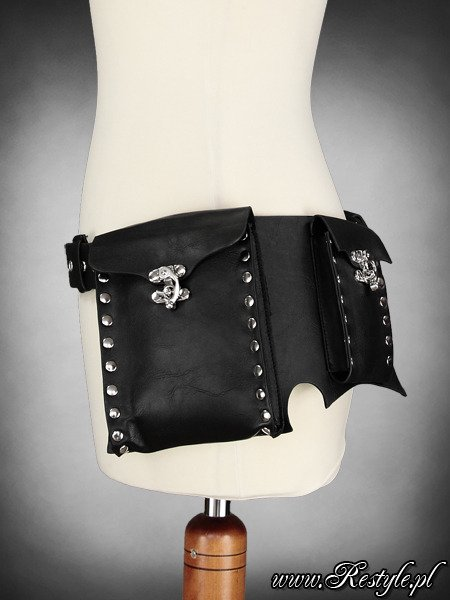 "steampunk ""POCKET BELT"" BLACK unisex"