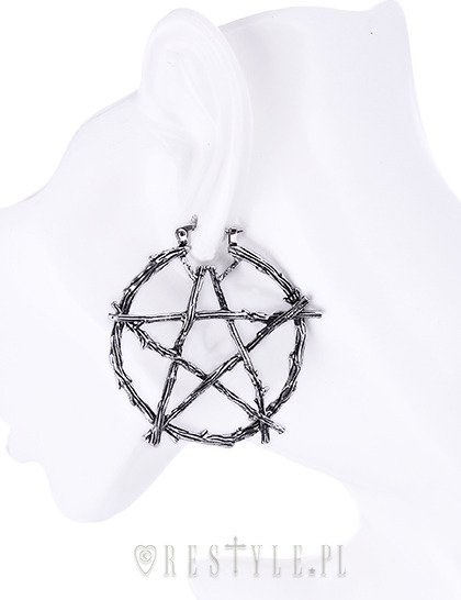"""BRANCH PENTAGRAM EARRINGS"" kolczyki koła pentagram"