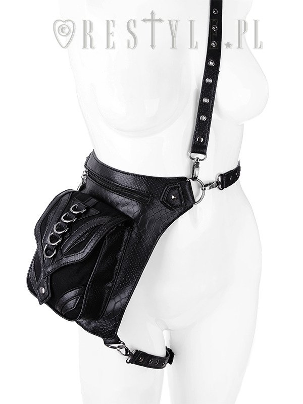 """DRAGON HOLSTER BAG"" Czarna torba na biodro, nerka, Pocket belt"