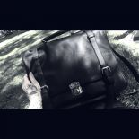 "Bag & Bacpack, black satchel, School bag ""CLASSIC MESSENGER"""