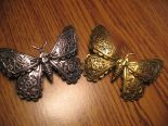 "Gothic hairclip steampunk, hair accessory ""MECHANICAL MOTH - BRASS"""