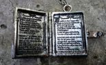 "Locket pendant, book shaped gothic necklace ""DARK POETRY"""