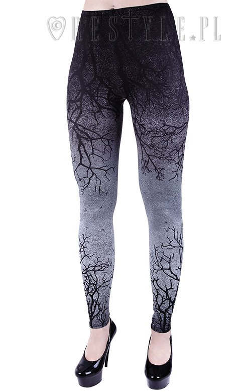 """GRAY BRANCHES"" Ombre Leggings tree, gradient trousers"