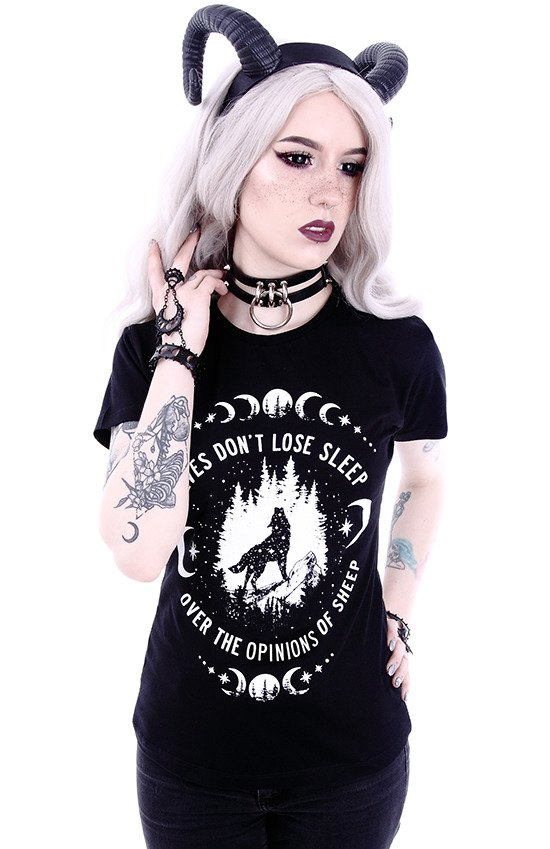 "T-shirt ""WOLVES"" Gothic blouse with a wolf print"