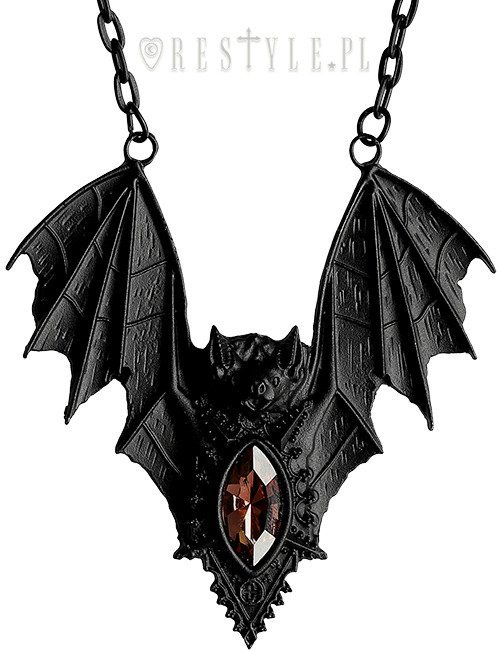 BAT NECKLACE BLACK