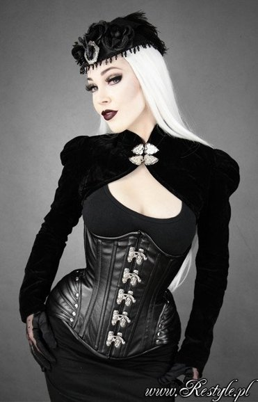 """BLACK ARMOR"" Faux leather hourglass underbust corset gothic"