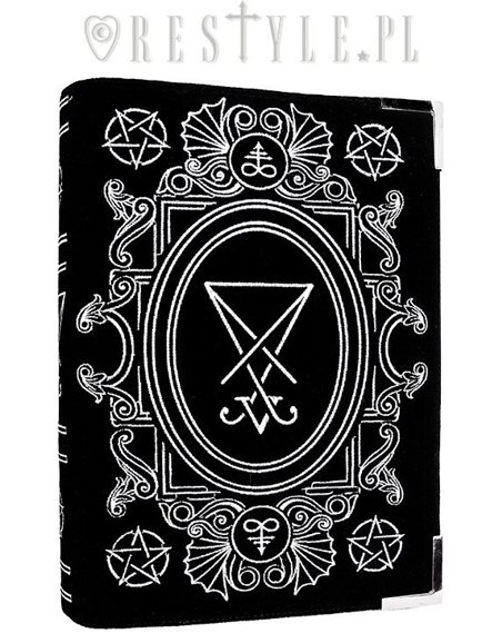 "BLACK BOOK bag ""LUCIFER SIGIL"" Satanic handbag, occult book, magic book"