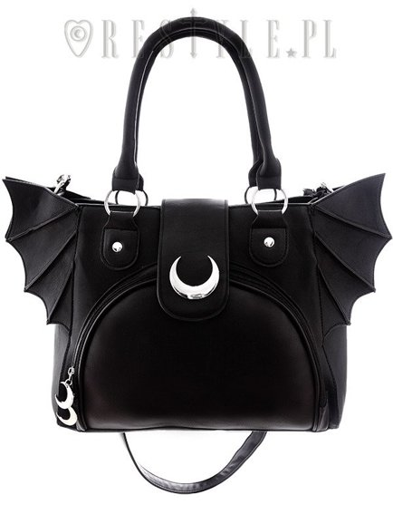 """ELEGANT GOTH PURSE"" Moon Bat bag"