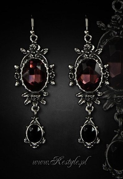 "Evening earrings ""WILD ROSES"" gothic romantic jewellery"