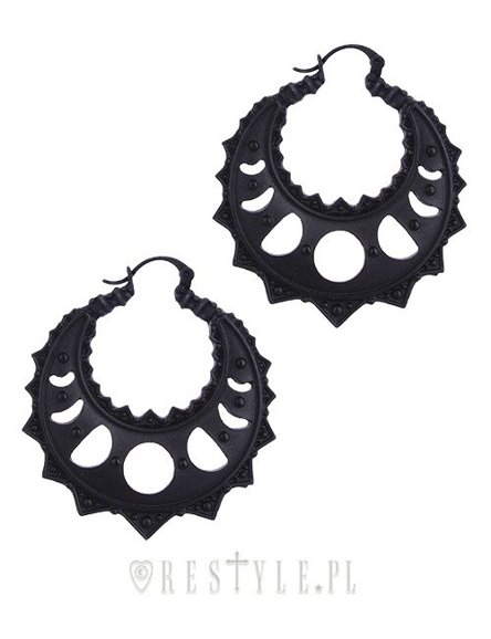 """LUNAR CRESCENTS HOOP EARRINGS"" moon phases, occult jewellery"