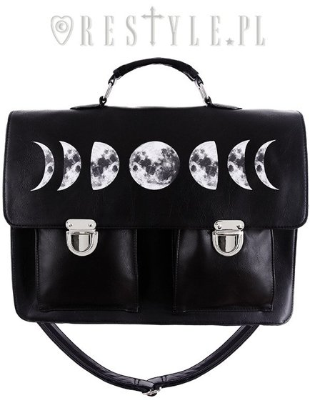 """MOON CYCLE SATCHEL"" gothic briefcase"
