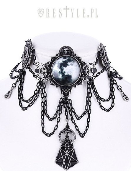 """MOON GEOMETRY CHOKER""  Moon collar, Full moon, moon phases, crescent"