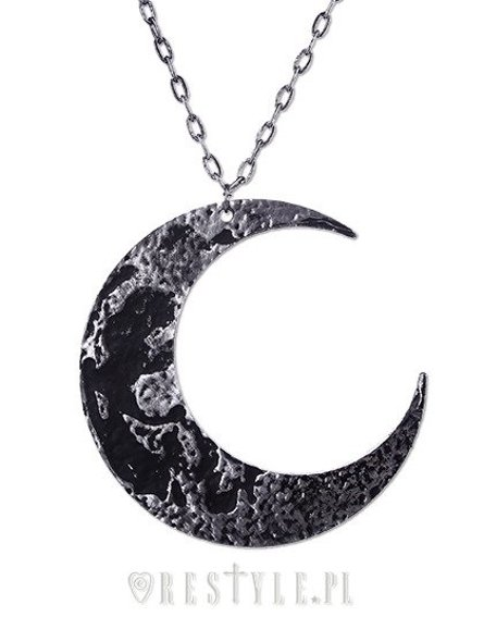 """MOON TEXTURED PENDANT"" Huge Crescent, occult jewellery, luna"