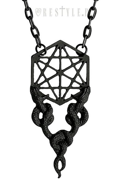 "Necklace ""Sacred Snakes Black Pendant"""