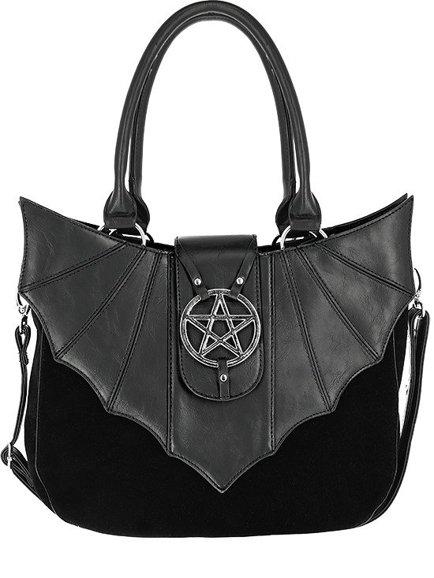 Ominous Bag Bat Purse With Pentagram