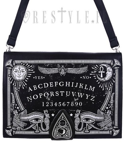 """OUIJA BOARD BAG"" Occult purse, spirit board, planchette"
