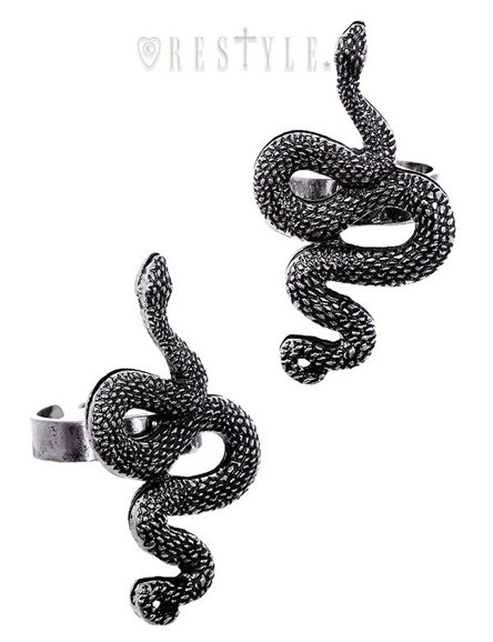 """SNAKE RING"" satanic jewellery, occult fashion, serpentine ring"