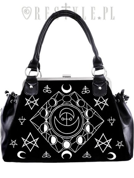 """SYMBOLIC FRAME BAG"" Black Velvet, gothic, occult handbag"