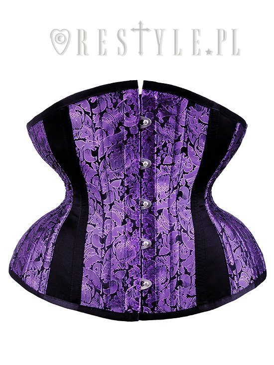 "Purple corset, hourglass shape, sturdy  ""CU5 Purple Brocade Underbust"""