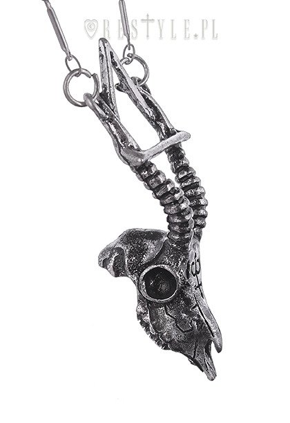 "Gothic skull necklace arsenic, nature, occult jewellery ""GAZELLE SKULL SILVER necklace"""