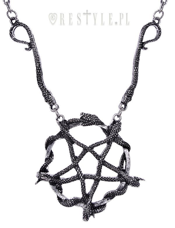 """SNAKE PENTAGRAM necklace"" Satanic Pendant, occult jewellery"