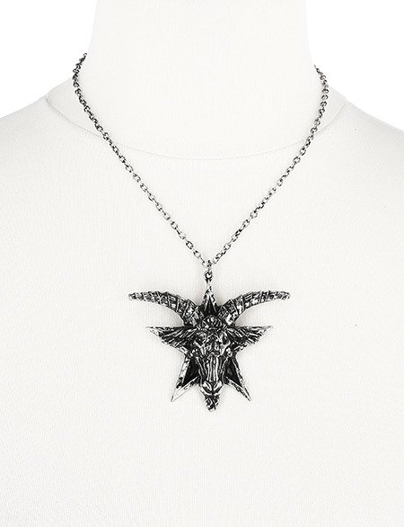 BATPHOMET SILVER NECKLACE