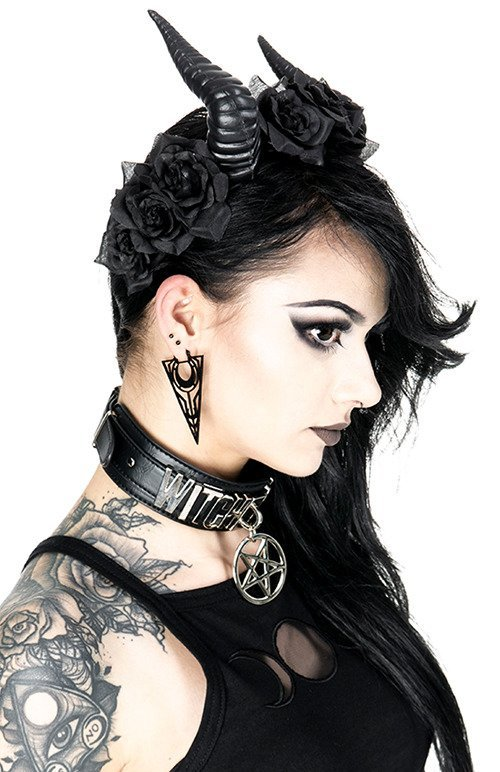 BELETH ROSE CROWN Gothic Headpiece, demon horns