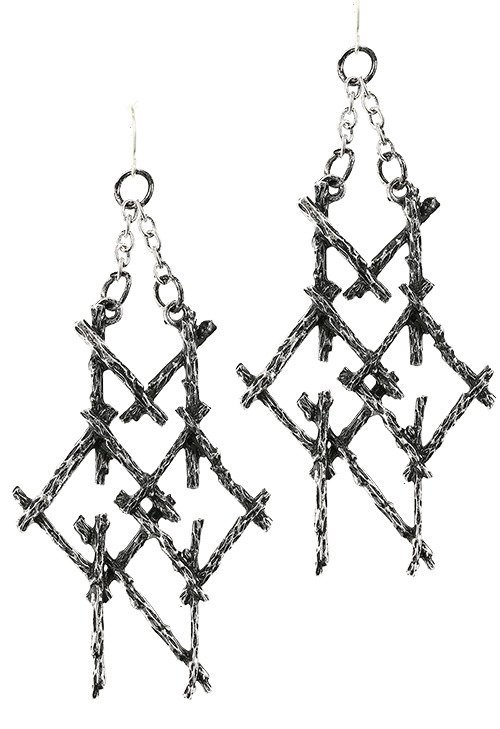 BRANCH PAGAN MOON statement earrings SILVER