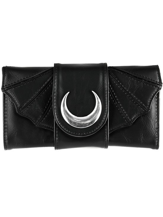 Bat Wings Wallet PU Crescent Gothic Moon purse