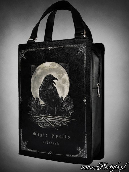 2bccab159f3171 Black BOOK bag gothic handbag, raven moon