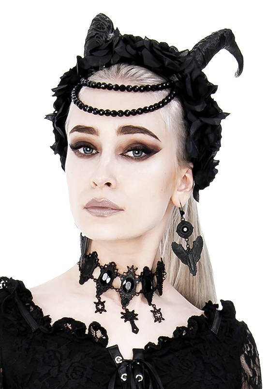 Black Gothic Angel Earrings