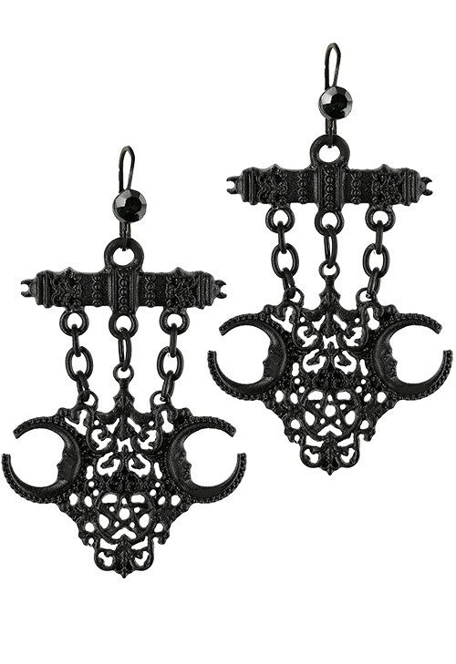 Black Gothic Fortune Teller Earrings